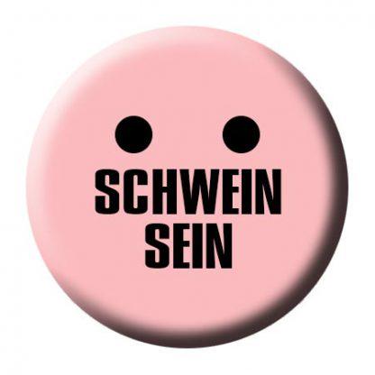 Button-Schwein-sein